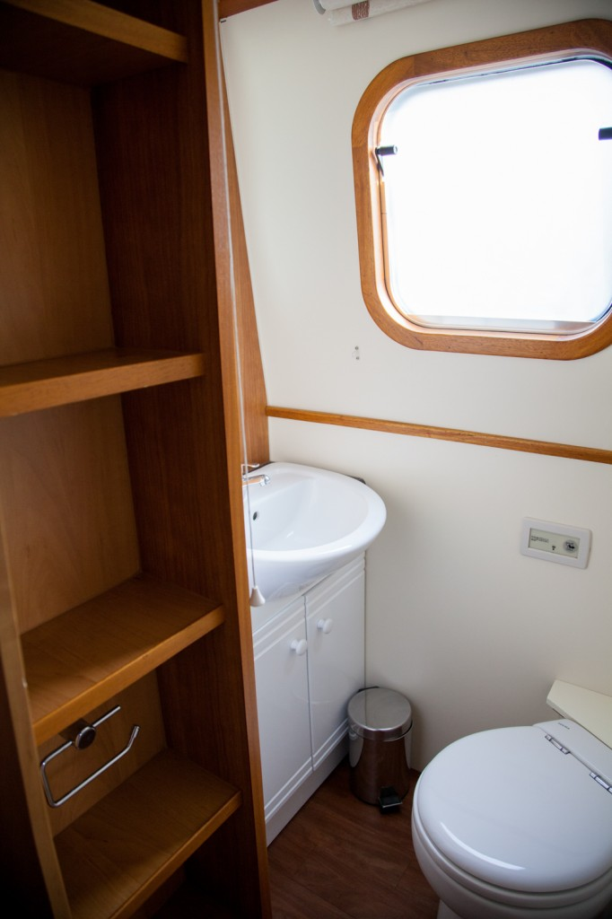 canal boat bedroom